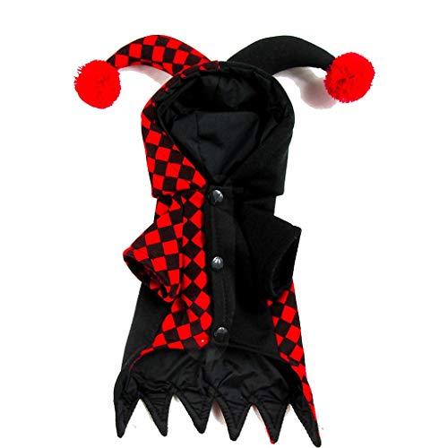 ng Herbst und Winter Stereo Transformation Kleid Teddy Clown Weihnachten Halloween Tag kleidet kleine mittlere Hundekleidung (Size : XS) ()