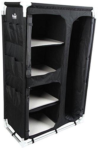 Preisvergleich Produktbild Mittelgroßer, aufstellbarer Kleiderschrank in Schwarz 355390 von Royal