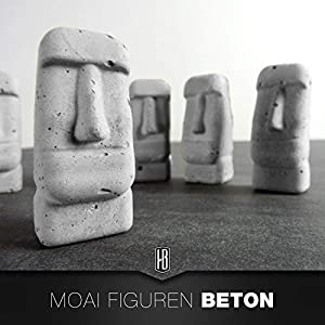 3er Set Beton Moai Osterinsel
