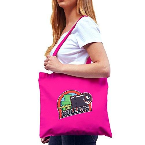 Kostüm Invader Space - NERDO - Mushroom City Bullets - Stoffbeutel, pink