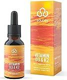 Vitamin D3 K2 Tropfen, In MCT-Öl, Vitamin K2 (All-Trans-MK-7 Aus Natto), Allergenfrei, 930 Tropfen
