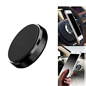 TECHPOOL High Power Mini Magnet Universal Car Phone Holder Aluminum Alloy Magnetic Plate Mount Multi Use Key Stand…