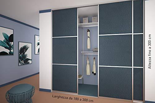 Ante scorrevoli nr 3 per cabina armadio su misura porta for Ante a serrandina su misura