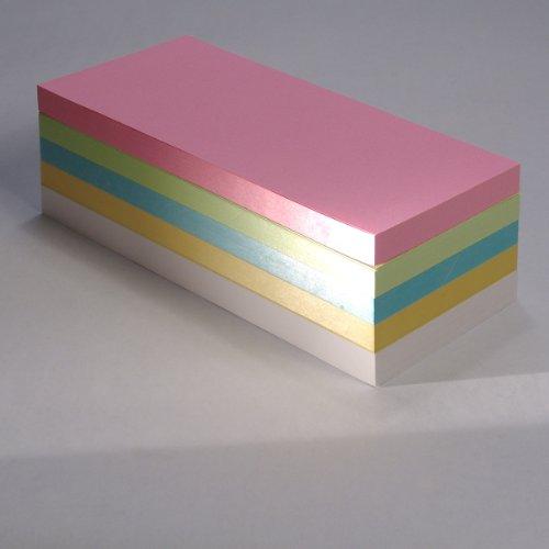 """Office Line Moderationskarten \""""Rechtecke\"""", farblich sortiert, 130 g, Format: 20 x 9,5 cm, 500 Stück, Art.Nr.: 770088"""