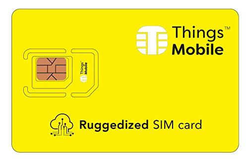 RUGGEDIZED / ROBUSTE SIM-Karte für IOT und M2M - Things Mobile - mit weltweiter Netzabdeckung und Mehrfachanbieternetz GSM/2G/3G/4G. Ohne Fixkosten unt ohne Verfallsdatum. 10 € Guthaben inklusive