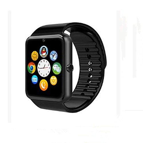 Galleria fotografica Lemumu Smart Micro scheda SIM telefono Bluetooth Watch fotocamera orologio Bluetooth® Entertainment,Nero