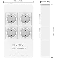 ORICO HPC-4A5U Home office 4 AC EU Power Strip with
