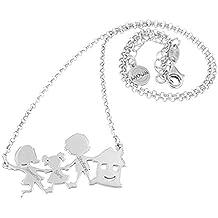Idea regalo: Collana personalizzata con la tua FAMIGLIA in argento 925. MOUN Jewels.