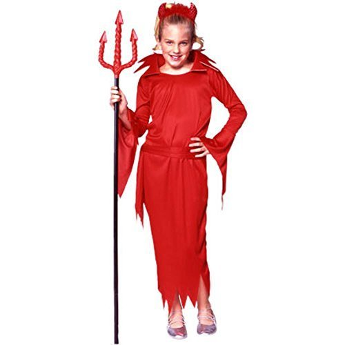Kostüm Devil Girl Red - Child's Girl's Little Red Devil Girl Halloween Costume (Size:Large 12-14) by RG Costumes