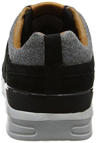 Pepe Jeans London Herren Jayden Suede Sneaker Schwarz (Black)