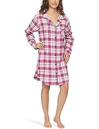 Flanell-Nachthemd Nachtkleid Nachtwäsche Sleepshirt für Damen - Moonline