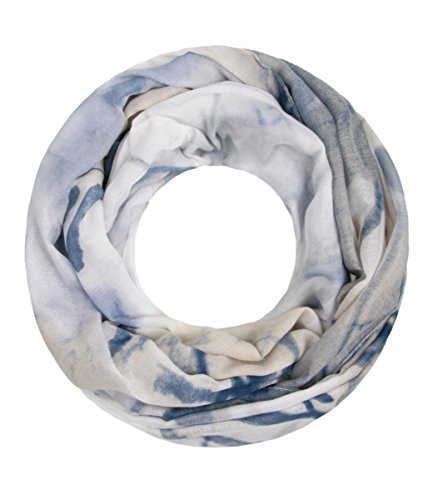Majea NEUE Saison Damen Loop Schal viele Farben Muster Schlauchschal Halstuch in aktuellen Trendfarben (beige 14)