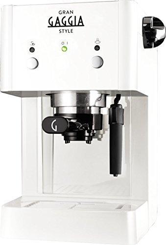 Gaggia RI8423 Espresso machine 1L White - coffee makers (freestanding, Manual, Espresso machine, Coffee pod, Ground coffee, Coffee, Espresso, White) by Gaggia