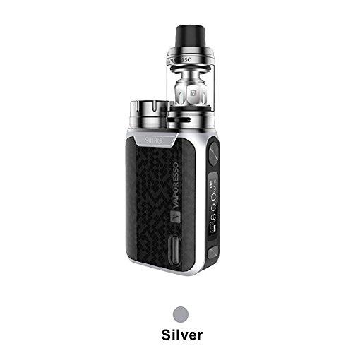Vaporesso Swag Kit 3.5ml Standard Edition E Zigarette Starterset Temperaturkontrolle Kein Tabak oder Nikotin(Silber) (Swag)