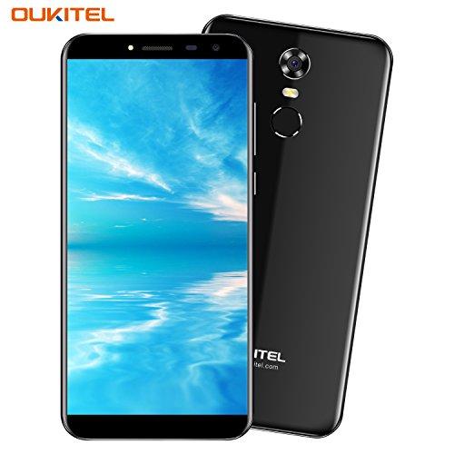 Telefonos Moviles, OUKITEL C8 - 5,5 pulgadas (18: 9 Relación Visión Completa) Android 7.0 3G Smartphone Libre, 3000mAh Batería, 1,3GHz Quad Core 2 GB RAM de 16 GB ROM, Cámara de 5MP + 13MP, Huella Digital GPS Dual SIM