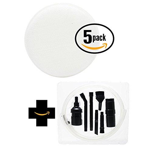 Pack de 5 de rechange Hoover Linx sans fil Aspirateur à main bh50015 Aspirateur Filtre éponge en mousse avec 7 Micro Kit de fixation - Aspirateur Compatible Hoover 410044001, Linx Filtre en mousse