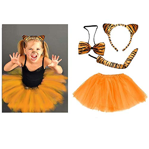 er oder Damen Kostüm - Tiger Costume Set - vertrieb durch ABAV (Komplett Set Mädchen) ()