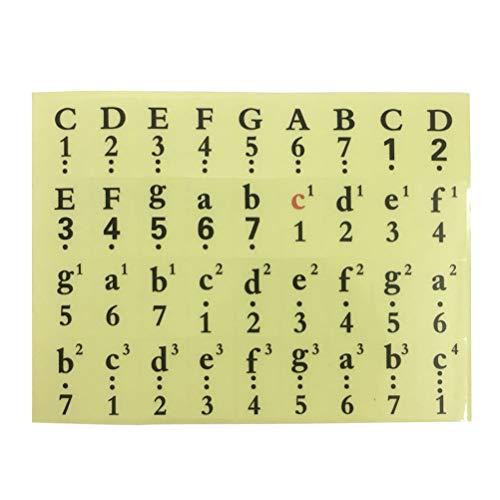 SUPVOX 61 54 49 Teclas Pegatinas Piano Teclas Pegatinas