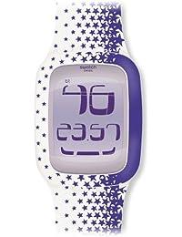 Swatch TOUCH STAR - Reloj (Reloj de pulsera, De plástico, Púrpura, Blanco