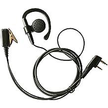 Haito 2-Pin Ear-Clip Headset Auriculares para Kenwood Radio bidireccional TK3170 TK3173 TK3200