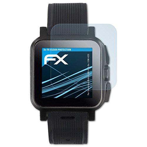 atFoliX Schutzfolie kompatibel mit Simvalley-Mobile AW-414.Go/GW-420 Folie, ultraklare FX Bildschirmschutzfolie (3X)