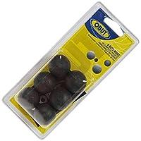 Sechs magnetische Obut Noires Boule Zielkugeln, Schweinchen, schwarz