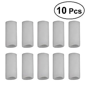 ROSENICE 10 Stücke Silikon Gel Zehenkappen Fingerschutz für Blister Prävention Schmerzlinderung