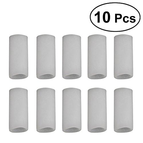 Rosenice protettore per dita con punta aperta di silicone in bianco 10pcs