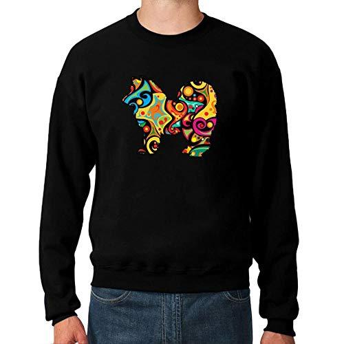 Idakoos Psychedelic American Eskimo Dog Sweatshirt M -