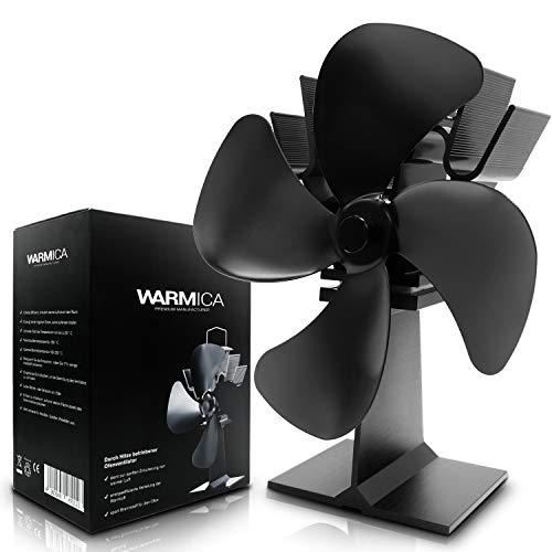 Stromloser Ventilator von WARMICA - Kamin Ventilator stromlos - Ventilator für Holzöfen - Ofen Ventilator für optimale Verteilung der Luft