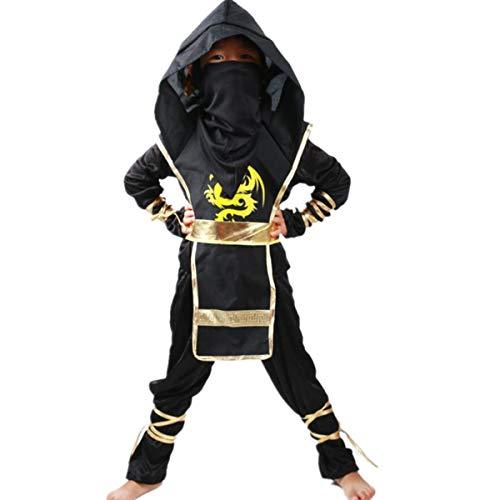 (Halloween Tödliches Ninja Jungs Kostüm Cosplay Karneval Fasching Costumes Jungen Verkleidung Kinder Outfit Halloween Jumpsuit)
