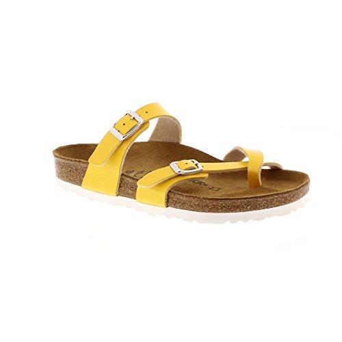 Birkenstock Zehensteg Sandale Mayari graceful amber yellow Gr. 35 - 43 - 1008836, Größe + Weite:38 normal (Womens Birkenstock London)