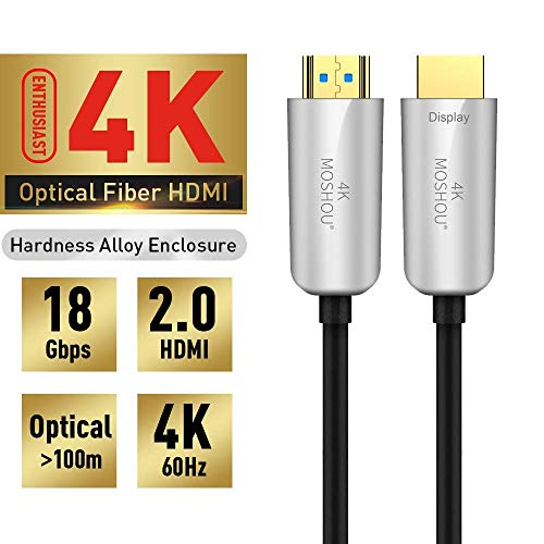 SIKAI Fiber Optic HDMI 2.0 Kabel kompatibel mit Apple TV / PS4 Pro High Speed Kabel 18Gbps HDMI Unterstützung 4K @ 60Hz / 4: 4: 4 / 2160P / 4K HDR HDMI Cable (12M) Fiber Optic Hdmi Kabel