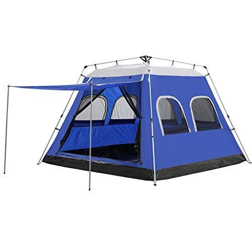 ZGQA-GQA 5-8 Person Automatische Instant-Camping-Zelt im Freien schnelles Öffnen Wasserdicht Familienzelt 4 Saison wanderndes Zelt (Color : Blue)