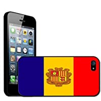 Fancy A Snuggle - Carcasa rígida para iPhone 5, diseño de la bandera de Andorra