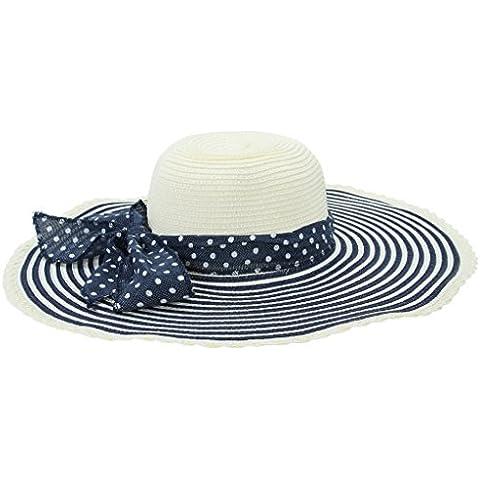 La vogue Sombreros De Sol Para Mujer Ala Ancha 57cm Azul oscuro