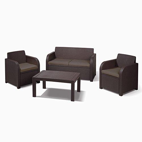 allibert montpellier brown rattan outdoor garden furniture