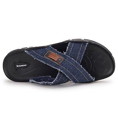 pantofole Infradito da uomo Pantofole & amp;Infradito estate denim casual piani del tallone Altri Bl sandali US10 / EU43 / UK9 / CN44
