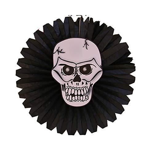 Halloween Party Dekorationen Papier-Fans Kürbis Gespenst Thema liefert beängstigende und lustige Accessoires hängende Papier Tassels (Skelett)