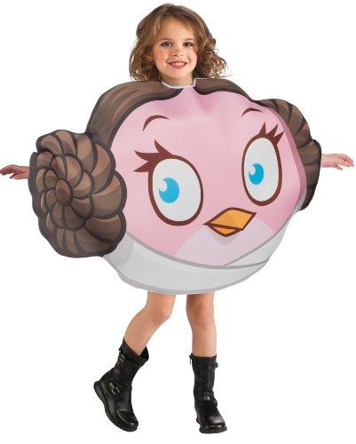 Generique - Angry Birds Prinzessin Leia-Kostüm für Kinder
