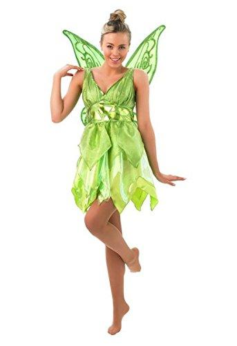 Rubies 3880998 - Tinker Bell Adult, L, hellgrün