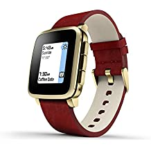 Pebble Time Steel - Smartwatch (128 MB RAM, Li-ion, Android, 4.0, Bluetooth 4.0), color rojo