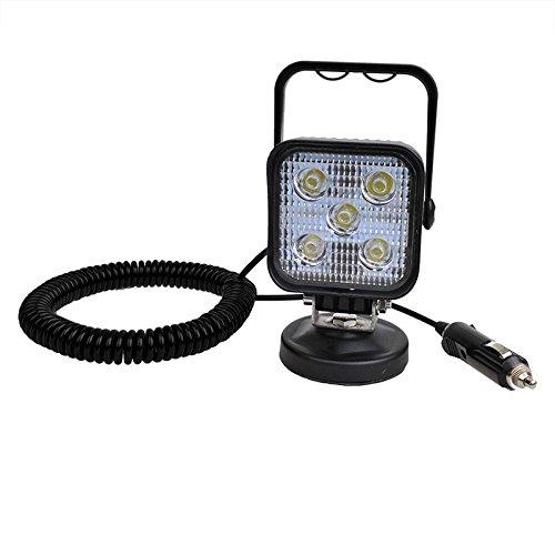 LED Arbeitsscheinwerfer 12/24 Volt 5 Led´s 3 Meter Spiralkabel Magnetfuß IP67