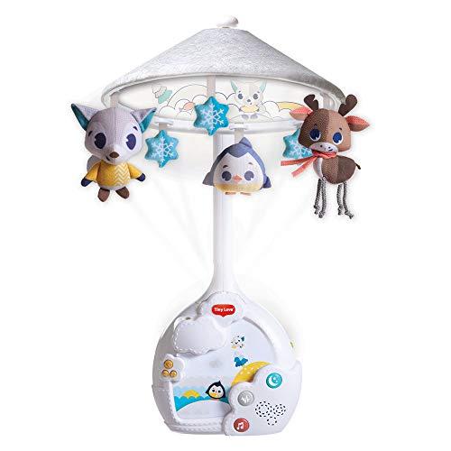 Tiny Love Magical Night Mobile giostrina per lettino con proiettore di stelle, luci, musica e rumore bianco, si trasforma in abat-jour, coll. Polar Wonders