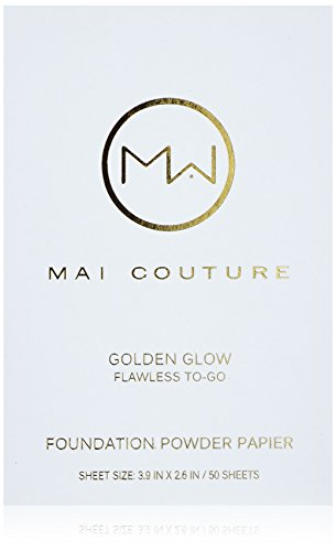 Mai Couture fondotinta in polvere Papier, golden Glow 50fogli
