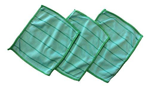 3 panni in microfibra di bambù per la pulizia degli occhiali, 17 x 14 cm