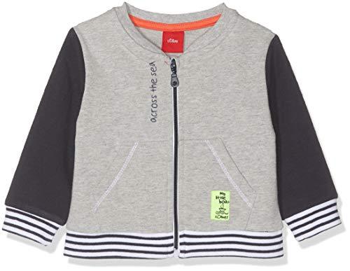 s.Oliver Baby-Jungen 65.903.43.2939 Sweatjacke, Grau (Grey Melange 9400), Herstellergröße: 80
