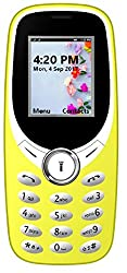 I KALL K31 Dual Sim 1.8 Inch Display Basic Feature Mobile Phone with Bluetooth, GPRS, FM radios, Flash Light and 1000 mah battery capacity- Yellow