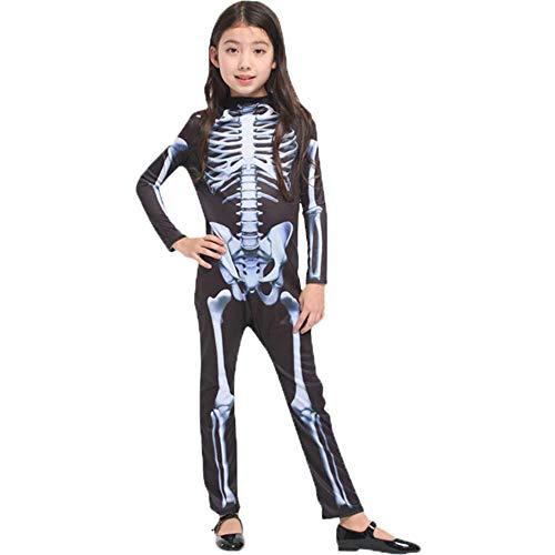 Kind Demon Kostüm - NiQiShangMao Halloween Karneval Party Kostüm Familie Scary Demon Devil Schädel Skeleton Kostüme Overall für Männer Frauen Kinder Jungen Mädchen