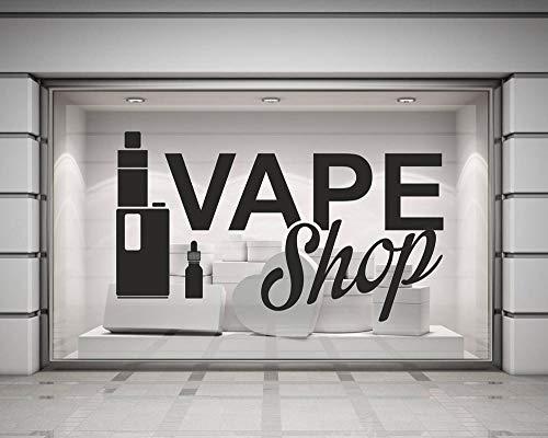 haotong11 Adesivi murali in Vinile Vape Shop Poster Adesivi murali Decorazione per la casa Adesivi per Sigarette elettroniche Rimovibili Carta da Parati 98x57cm